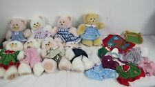 FISHER PRICE BRIARBERRY BEARS PLUSH  (8) WITH EXTRA  CLOTHES CLOTHING
