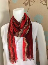 MISSONI MULTI COLOUR ZIG ZAG LIGHTWEIGHT SUMMER SCARF MADE IN ITALY RRP£162.00