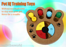 Wooden Paw Shape Pet Treat Food Hiding Puzzle IQ Training Toys for Dogs Cats