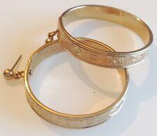 boucles d'oreilles percées clous rétro couleur or anneaux gravé mobile 279