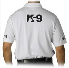 NEW MEN PRINTED K-9 K9 UNIT POLICE  FUNNY MMA Halloween GOLF COLLAR POLO T-SHIRT