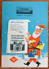 Händlerprospekt AGFA Kameras SILETTE COLORFLEX AMBIFLEX OPTIMA * Selten! (X2937