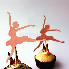 20 Ballet Dancing Girl Cake/Cupcake Topper Picks Decoration Birthday Party