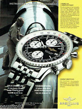 PUBLICITE ADVERTISING 016  2000  BREITLING  montre Old Navitimer