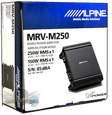 Alpine MRV-M250 Mono Amplifier Class D Digital Car Amp New MRVM250 250 Watt Amp