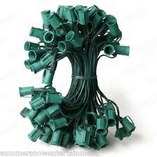 C9 Green 50-Socket Cord String Commercial Grade Christmas Lights 12 in spacing
