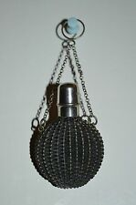 Antique Rattan Chatelaine French Perfume Bottle
