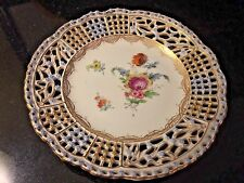 Antique Carl Thieme Dresden Germany Plate hand painted 1888-1901 mark