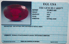 EGL USA CERTIFIED OVAL CUT RED NATURAL RUBY 0.57 CT LOOSE GENUINE GEMSTONE