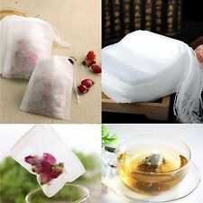 100PCS Empty Loose Tea Bags Teabags String Herb String Heat Seal Filter 5.5X 7CM