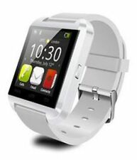 Bluetooth Smartwatch Reloj Inteligente Móvil Mate iPhone Android Samsung Blanco