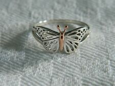 Clogau Silver & 9ct Welsh Gold Butterfly Ring size S RRP £139.00