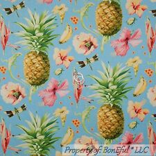 BonEful Fabric FQ Cotton Quilt Pineapple Hawaii Flower Tropical Fruit Paradise L