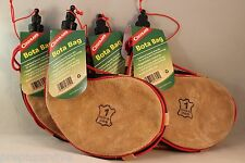 4 PK 1 LITER BOTA BAGS FINE GOATSKIN LEATHER POLY LINED BRAIDED STRAP FROM SPAIN