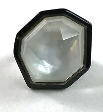 Ippolita Sterling Silver Black Resin Ring in Mother Of Pearl size 6.5