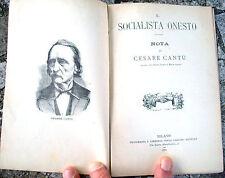 1891 'IL SOCIALISTA ONESTO' DI CESARE CANTU'. PIERRE GUILLAUME FREDERIC LE PLAY