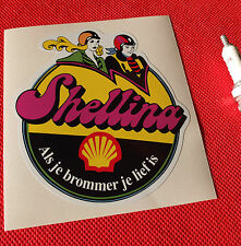 SHELL OIL  Dutch 1970s style sticker Aufkleber autocollant