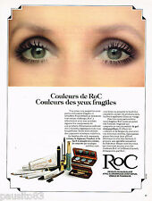 PUBLICITE ADVERTISING 065  1978  LABORATOIRE ROC maquillage  DES YEUX