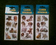 Aufkleber Sticker Hund Hunde Dog Laser/Glitzer Süß Süße Kinder NEU