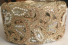 1 Meter Latest Indian Lace Trim Ethnic with Stone Pearl Zari work