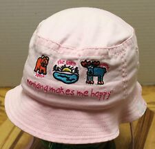 "GIRLS TODDLER SIZE PINK ""MONTANA MAKES ME HAPPY"" BUCKET HAT EXCELLENT CONDITION"