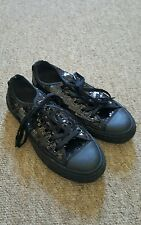 Black converse size 3 UK Good Condition Bling!