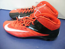 NIKE VAPOR PRO~Red, Black & White Football CLEATS Shoes~Mens 16~Brand New!!