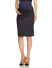 New NOPPIES MATERNITY Clothes Over-The-Belly Premium Denim Pencil Skirt S 28 4/6