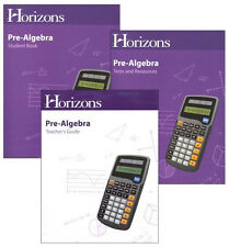 Alpha Omega Horizons Pre-Algebra Grade 7 Math Homeschool Textbook Bundle Kit NEW
