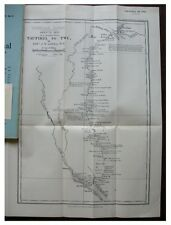 1904 Liddell - WHITE NILE - Dinka Tribe - ROUTE MAP - Sudan - 12