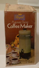 Vintage Regal 10 to 36 Cup Avocado Green Electric Coffee Maker #7036     (S5