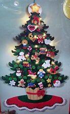 Bucilla CHRISTMAS TREE LIGHTED TABLETOP Felt 3-D Advent Calendar Kit 85355 RARE