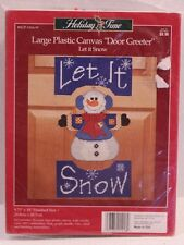 Let It Snow Door Greeter Plastic Canvas Kit Holiday Time