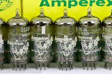 6DJ8 ECC88 (6922) AMPEREX HOLLAND 4 MATCHED TUBES 1960s HOLLAND GRAY-PLATE QUAD!