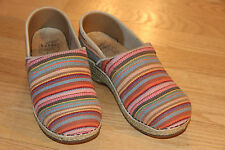 Dansko women's clogs Woven multi colored cotton Sz.36 US5.5-6 Excellent conditon