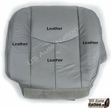 2003 2004 2005 2006 Chevy Tahoe Driver Bottom Leather (Heated) Seat Cover Gray