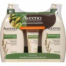 Aveeno Daily Moisturizing Lotion 18 fl. oz., 2 pack. with  2.5 oz. Tube New!!!