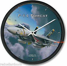 New F14 TOMCAT Wall Clock USAF F-14 Aviator Fighter Jet WWII Aeroplane 10""