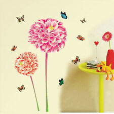 Wall Stickers Garden Dahlia Flowers with Butterflies  57138
