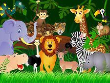 DSCHUNGEL REGENWALD WILDTIERE Foto Wandtapete Wandgemälde für Kinder 360x254