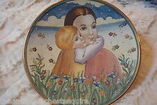 """Mother's Day"" by Tiziano, Veneto Flair 1974, hand etched and painted in Italy"