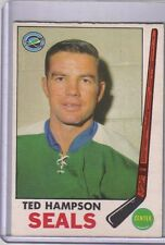 1969-70 OPC Ted Hampson #86-NHL Hockey stamp card-WITHOUT STAMP