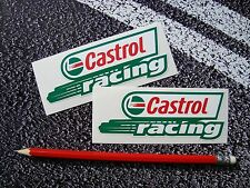 2 X CASTROL OIL CLASSIC RACING STICKERS MOTORCYCLE / CAR F1 LE MANS MOTO GP BTCC