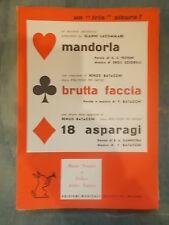 """SPARTITO LACOMMARE """"MANDORLA"""" BATACCHI BRUTTA FACCIA"""" """"18 ASPARAGI"""""""