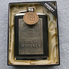 8oz Leather Bar whiskey Liquor Alcohol Drink Wine Hip Party Flask Birthday Gift