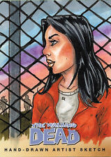 Walking Dead Comic Series Two Sketch Card by Steve Lydic of Lori
