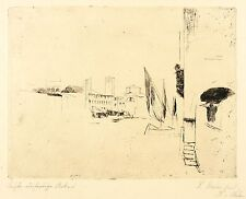 Peter stelo-città italiana (ultima opera) - ACQUAFORTE 1923