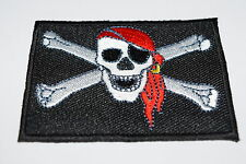 Pirate Skeleton Iron On Patch Gift Novelty Embroidered Skull & Cross Bones