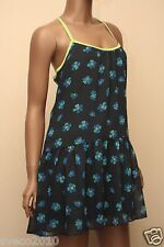 NWT HOLLISTER BY A&F WOMEN NAVY BLUE FLORAL SUMMER SUNDRESS MEDIUM DRESS