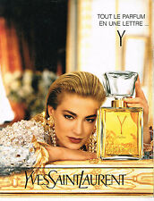 PUBLICITE ADVERTISING 025  1991  YVES SAINT LAURENT  Y parfum femme